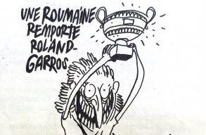 Simona Halep karikatúrát közölt a Charlie Hebdo szatirikus hetilap