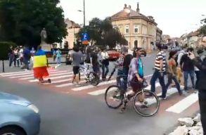 Brassóban furcsa módon tüntettek a PSD ellen