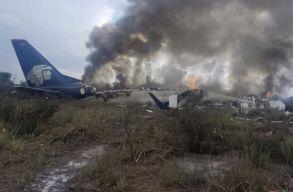 Zuhanásszerû kényszerleszállást hajtott végre egy mexikói gép