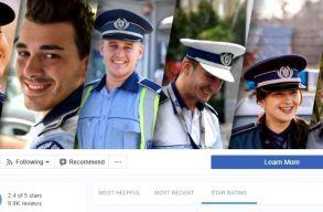 Nem lehet többé csillagocskákkal értékelni a román rendõrséget Facebookon