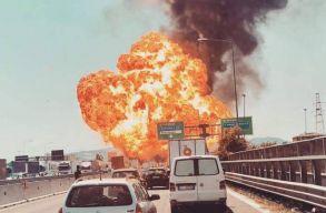 Hatalmas robbanás történt egy Bologna melletti autópályán