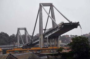 Leszakadt egy autópálya hídja Genovában, sok a halott