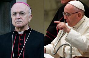 A Vatikán volt washingtoni nagykövete lemondásra szólította fel a pápát