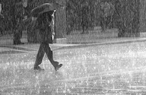 Esõre és viharokra kell számítani kedd estig
