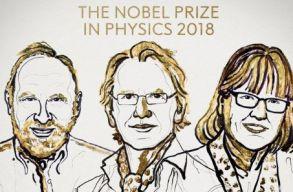 Lézerkutatók kapták a fizikai Nobel-díjat