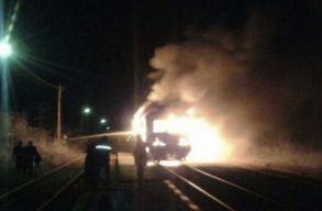 Kigyulladt a mozdonya egy vonatnak Marosvásárhelyen
