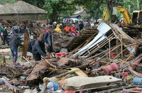 Cunami tombolt Indonéziában: majdnem 200 halott, több mint 700 sérült