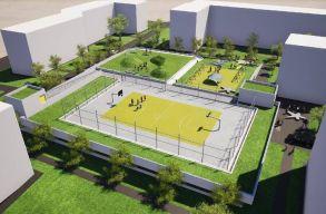 Sportpályát is kialakítanak egy újonnan épülõ kolozsvári parkolóház tetején