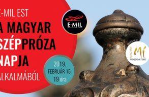 Irodalmi esttel ünnepli a Magyar Széppróza Napját az E-MIL