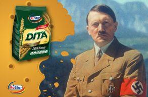 Hitler fényképével népszerûsíti termékeit egy romániai kekszmárka