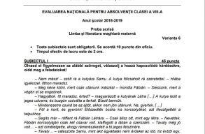 Ezt kapták magyar nyelv és irodalomból a képességvizsgán a diákok