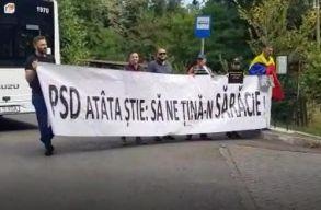 """""""A PSD ennyit tud: szegénységben tartani"""" - üzenték a jászvásáriak Dãncilának"""