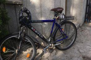 Az elnöki palota udvarára biciklivel nem lehet bemenni, csak autóval