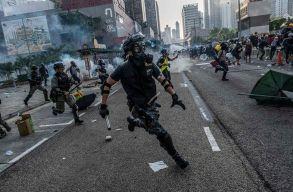 Hongkong: Erõszakossá vált az engedély nélkül tartott vasárnapi tüntetés