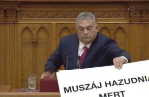 Kisebb dulakodás is volt Orbán Viktor beszéde közben a magyar Országgyûlésben