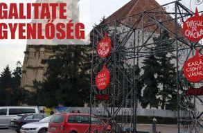 Kifogásolja a Musai-Muszáj, hogy idén sem kerültek ki magyarul a karácsonyi vásár üdvözlõ feliratai