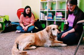 Néha annyi is elég, hogy a kutya csendben hallgat. Kutyaterápiás klinikán jártunk