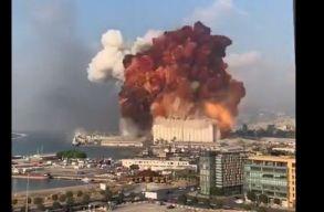 Gigantikus robbanás történt Libanon fõvárosában