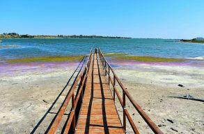 Ötven éve nem apadt annyit a Techirghiol-tó szintje, mint a mostani szárazság alatt