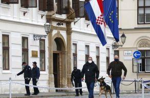 Gépfegyverrel lövöldözött a horvát kormány épülete elõtt egy férfi