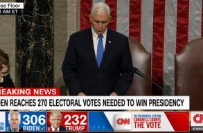 Az amerikai törvényhozás szentesítette: Joe Biden nyerte az amerikai elnökválasztást