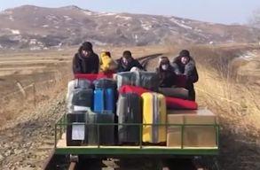 Vasúti platót tolva tértek haza Észak-Koreából az orosz követség diplomatái