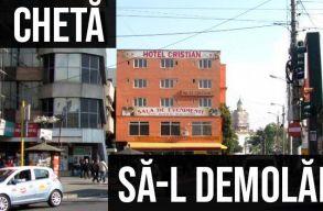 Civil összefogással akarnak megvásárolni és lebontani egy ronda kolozsvári szállodát