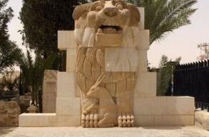 Elpuszt�totta a h�res palm�rai oroszl�nszobrot az Iszl�m �llam
