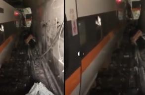 Súlyos vonatbaleset volt Tajvanban, több mint 30-an meghaltak