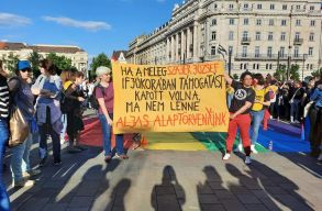 Ezrek tüntettek Budapesten a homofóbbá lett pedofilellenes törvény miatt