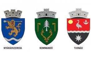 Nyárádszereda, Kommandó és Tusnád címereit hivatalosította a kormány