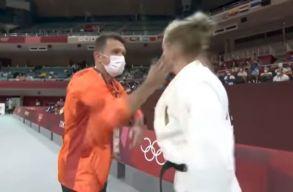 Felpofozta elsõ olimpiai meccse elõtt a német judokát a román edzõje, szigorú megrovást kapott (videó)