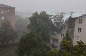 Ítéletidõ tombolt a Kolozs megyei Désen: tetõket tépett fel, fákat tört ketté a zivatar (videó)