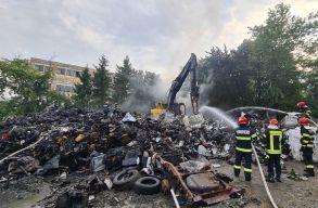 Tûz ütött ki egy zilahi hulladékfeldolgozónál: a füst miatt Ro-Alerten figyelmeztették a lakosságot