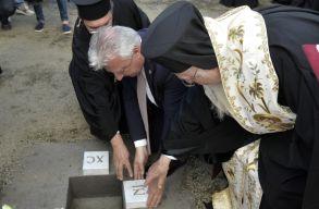 Új ortodox templom alapkövét tették le Budapesten