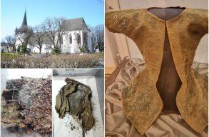Elõtte és utána: díjat nyert a Bánffy-kriptában feltárt 400 éves ruhadarab mesteri restaurátora