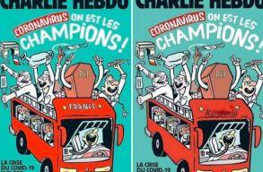 """Mi vagyunk a koronavírus bajnokai"" - virálissá lett a Charlie Hebdo Romániára adaptált tavalyi címlapja"