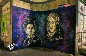 Marosvásárhely nevezetességeit graffitizték a falakra az utcamûvészek