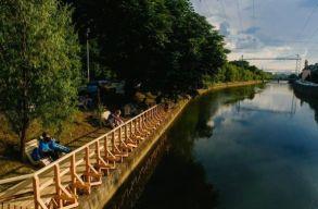 Kolozsv�r: le�ll�totta a polg�rmester az �tb�v�t�si munk�latokat a Szamos-parton