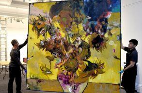 H�rommilli� font�rt kelt el Adrian Ghenie egy festm�nye