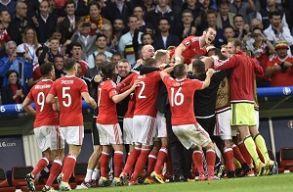 Wales nem kis meglepet�sre gy�z�tt Belgium ellen, �s m�r a legjobb n�gy k�z�tt
